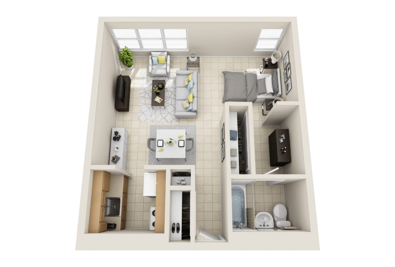 Floor Plan: Studio Layout